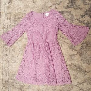 Lilac girls lacy dress